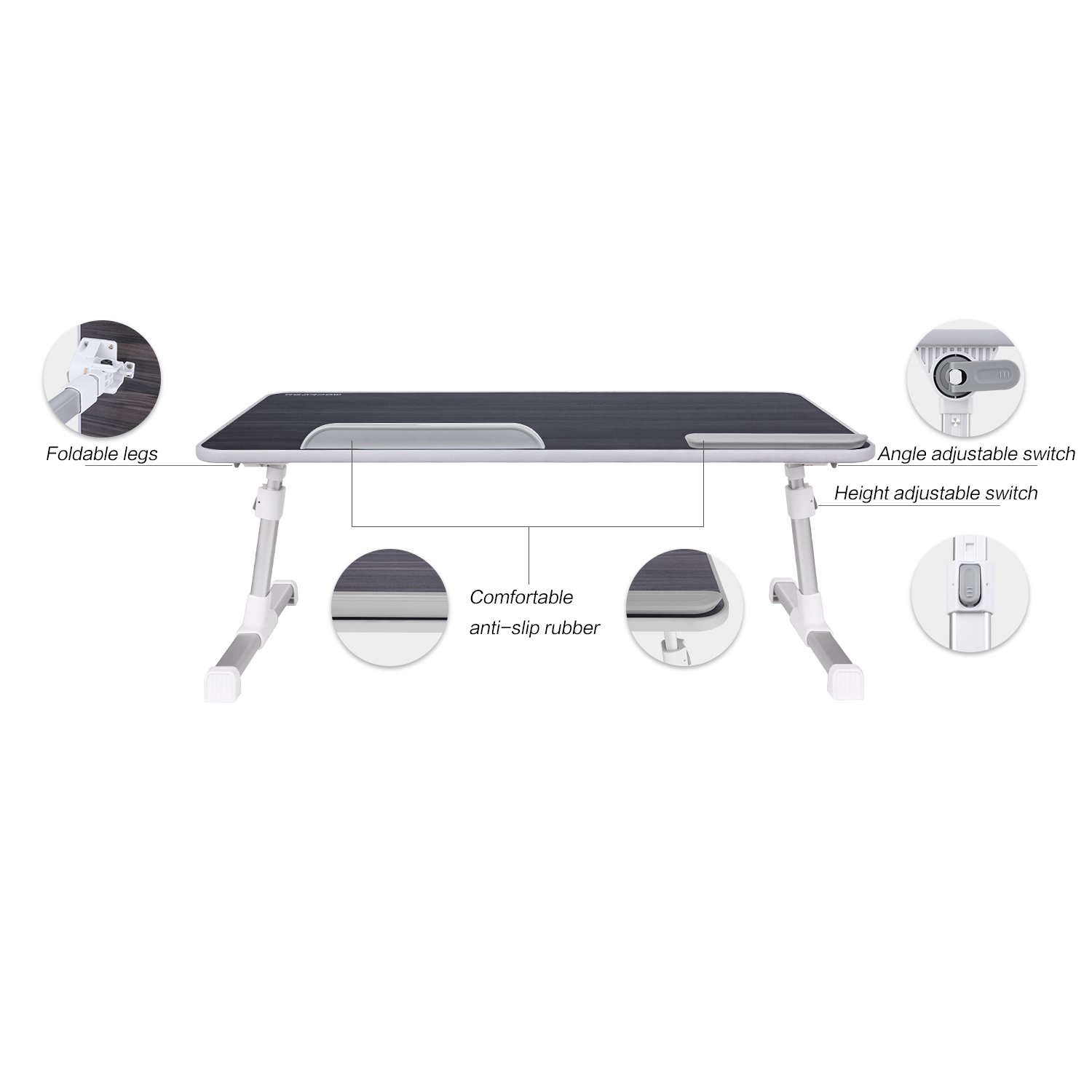 Laptop Bed Tray Table Nearpow Adjustable Laptop Bed