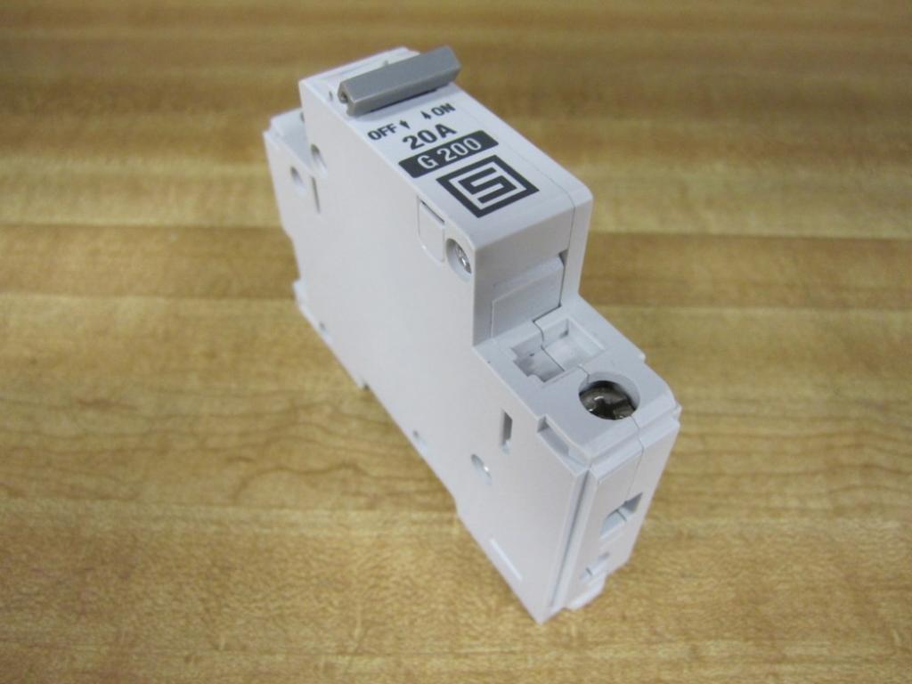 DIN Rail 1 Pole 277 VAC 20 A 65 VDC Thermal Magnetic Circuit Breaker AS168X Series