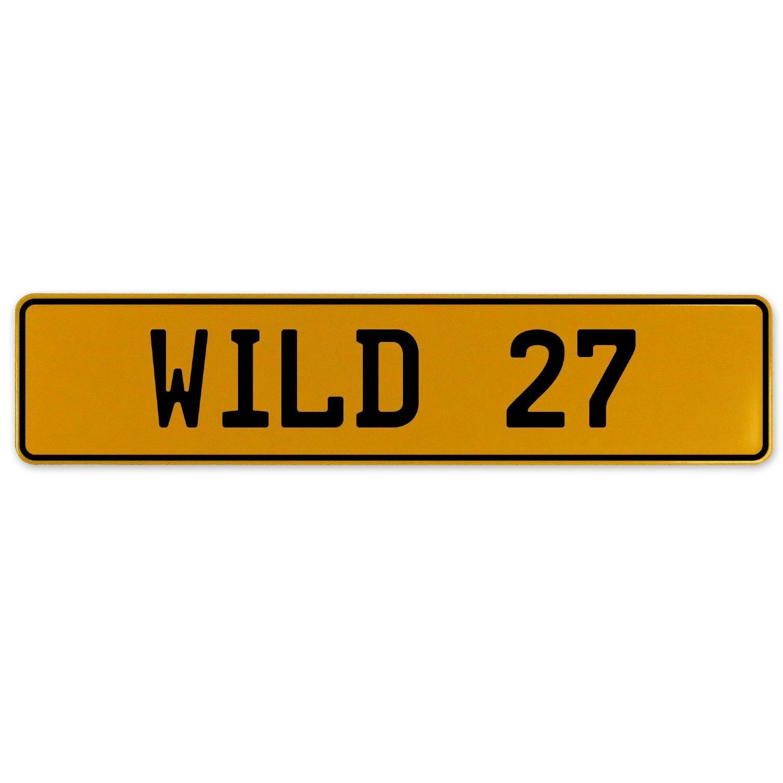 Vintage Parts 560862 Wild 27 Yellow Stamped Aluminum European Plate