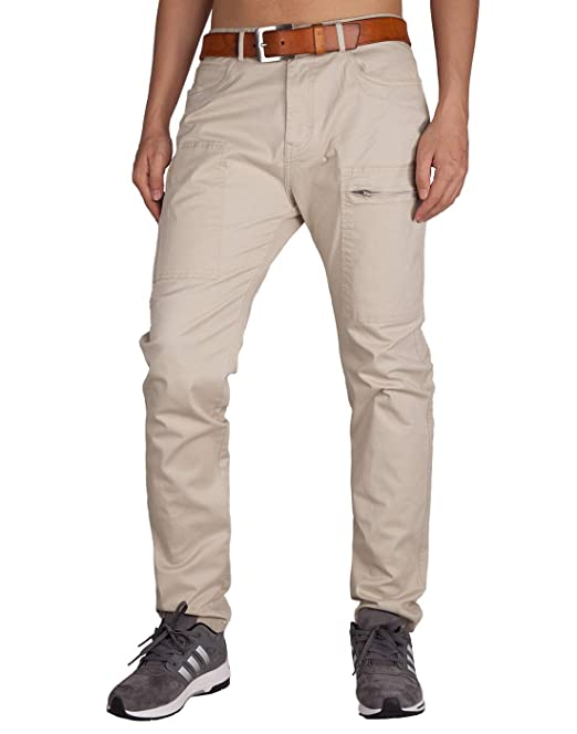 Italy Morn Herren Chino Casual Cargo Stoff Hose Chinohose
