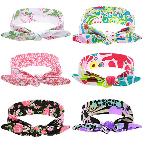 Baby Girls Headband Elastic Infants Headwraps Toddler Mesh Lace Flower Headbands