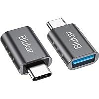 Blukar USB C-adapter op USB 3.0, [2 stuks] USB type C-adapter met OTG, Thunderbolt 3 naar USB 3.1, compatibel met Huawei…