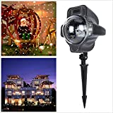 Lightess Christmas Projector Lights LED Moving Snowfall Outdoor/Indoor Waterproof Landscape Spotlights With Remote Control for Halloween Xmas Holiday Wedding Party Home Garden Decoration Light