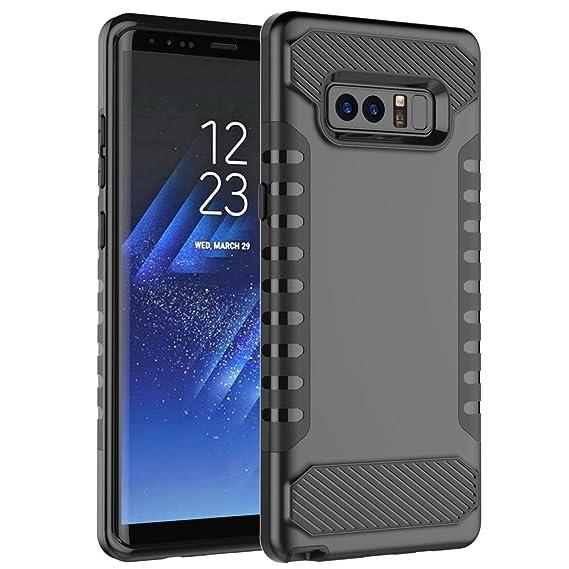 Galaxy Note 8 Phone Case, TOPBIN Minimalist Textured Shock Absorption  Dou Layer Hybrid Back