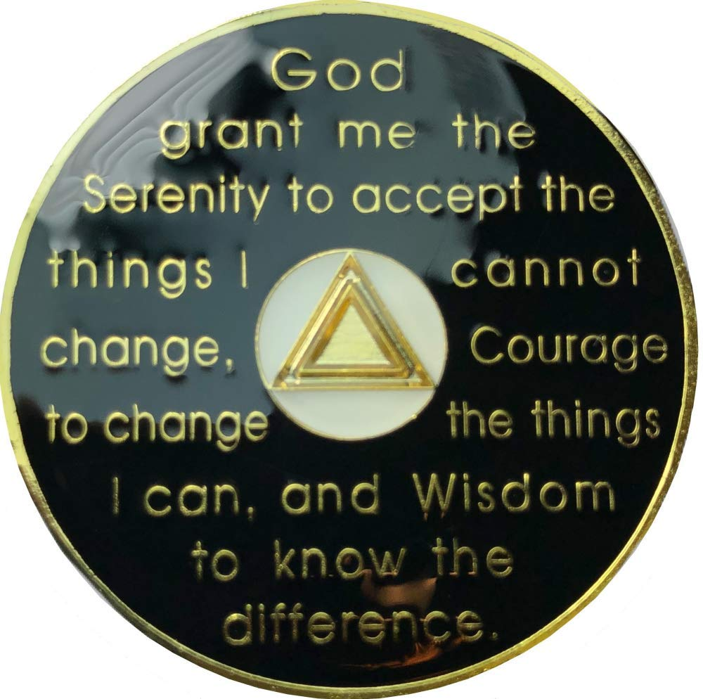 AA 2 Year Gold Tri-Plated Coin Alcoholics Anonymous Medallion