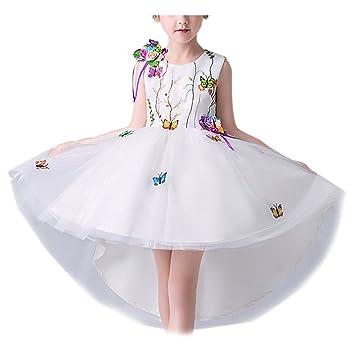 b268916a9 Bordado Vestido Fiesta Niña Princesa con Encajes Falda de Fiesta 3-8 Años