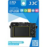 JJC LCPLX100 2-Piece Anti-Smudge High Transmission LCD Film Guard for Panasonic LUMIX DMC-LX100 (Clear)