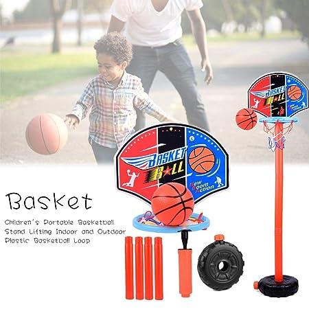 Brillante - Canasta de Baloncesto de plástico para niños, para ...