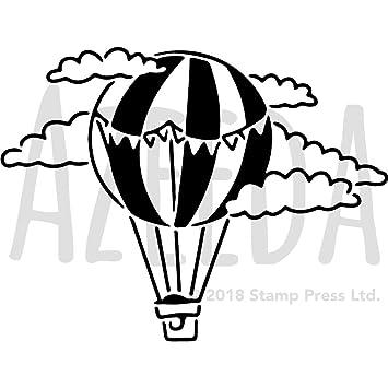 Azeeda A3 \'Heißluftballon\' Wandschablone/Vorlage (WS00028914 ...
