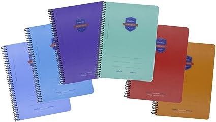 Cuadernos Espiral PRAXTON Premium, Folio 80H Pauta 3,5 mm. Tapa ...
