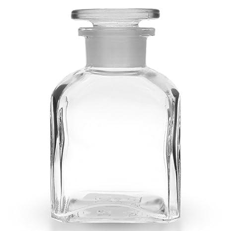 5 x gran angular de cuello de cuatro caras botella de 150 ml de vidrio transparente