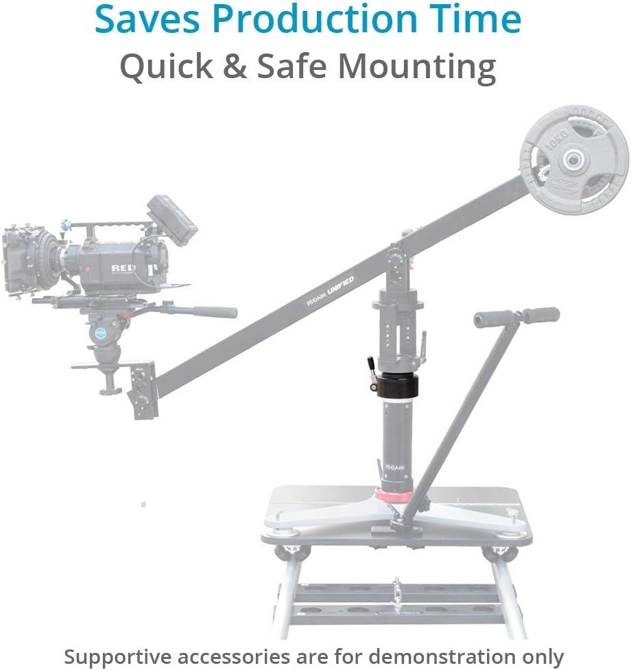 Bazooka Riser Proaim Euro//Elemac 360/° Rotating Adapter Mount for Cinema Dolly Professional Heavy-Duty CNC Aluminum Clamp for Stable Smooth Panning Shots Jib//Crane RA-282-00