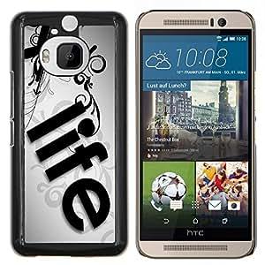 - Life Use of Time - - Cubierta del caso de impacto con el patr??n Art Designs FOR HTC One M9+ / M9 PLUS Queen Pattern