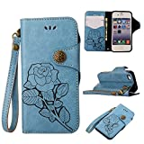 CNBEAU iPhone 4/4S Flip Wallet Protective Case Retro Rose Premium PU Leather Magnetic - Best Reviews Guide