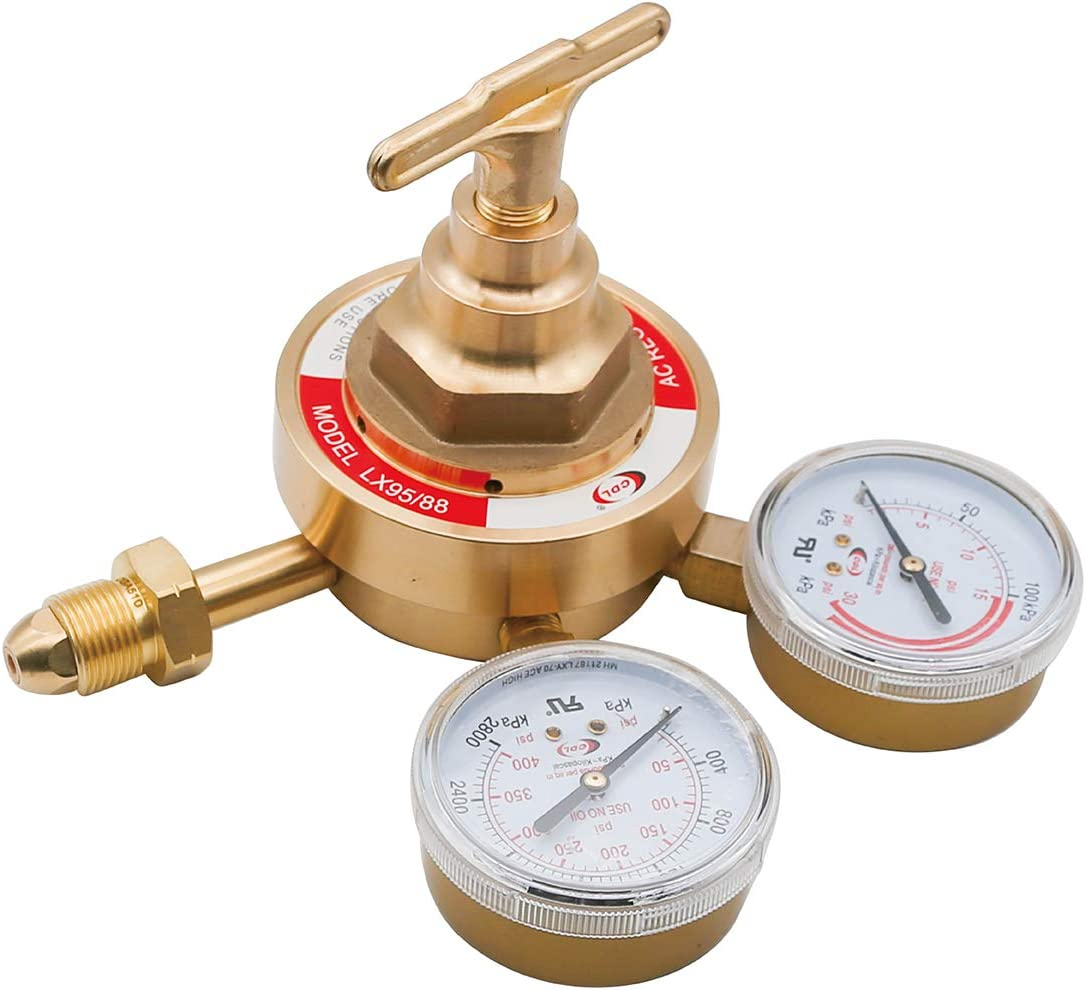 LX95//88 Acetylene Regulator CGA510 Heavy Duty