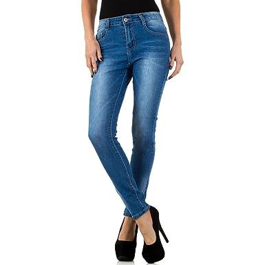 67534b3f267b Schuhcity24 Damen Jeans Hose Jeanshose Damenjeans Used Look Skinny Röhre  Röhrenjeans Bluejeans  Amazon.de  Bekleidung