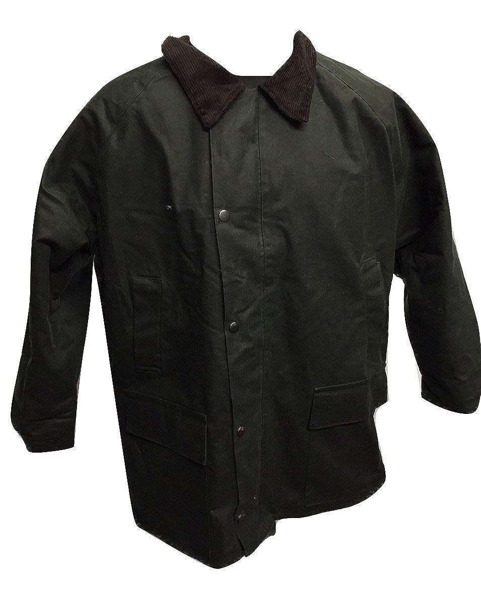 Kid Wax Jacket Coat Green Made in UK