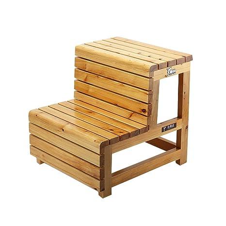 Astonishing Amazon Com Cedar Step Stool Wooden Bathtub Stool 2 Layer Ncnpc Chair Design For Home Ncnpcorg