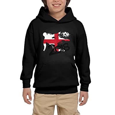 2018 Football Match England Youth Unisex Hoodies Print Pullover Sweatshirts