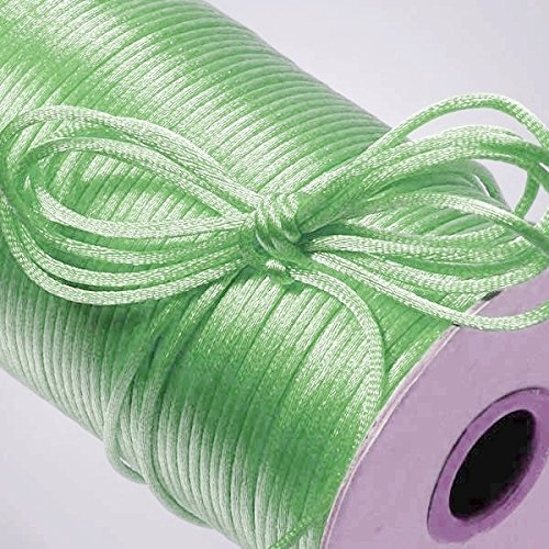 (Ben Collection 2mm X 100 Yard Rattail Satin Nylon Trim Cord Chinese Knot (Mint))