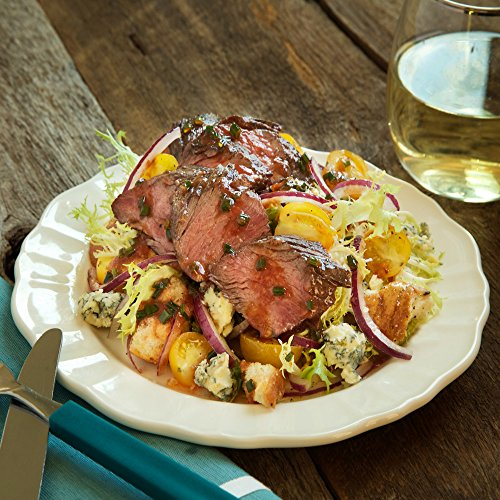 Pan Roasted Hanger Steak with Tomato Panzanella by Chef'd Partner Chris Santos (Dinner for 2) (Wine For Steak Dinner)