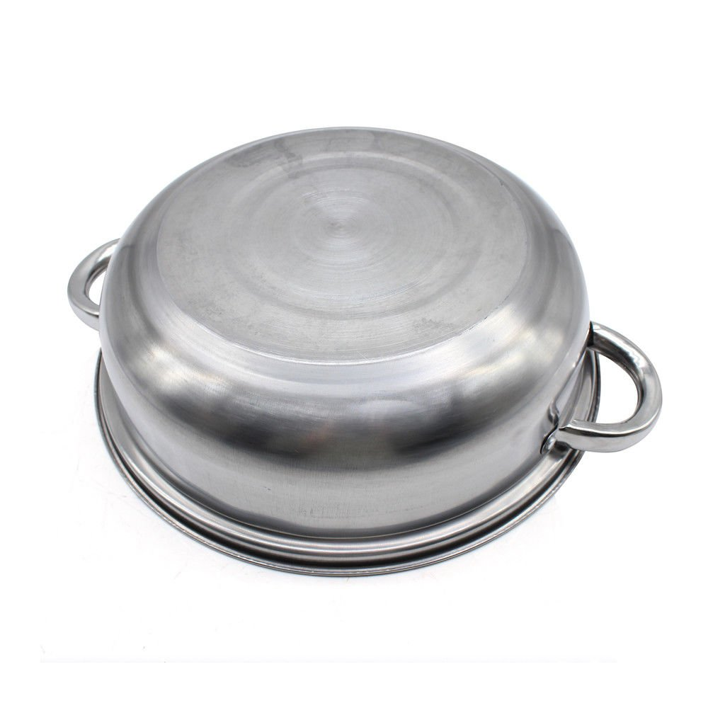 11 inch Stainless Steel 3 Tier Steamer Food Induction Steaming Pot Dim Sum Cookware Steamer For Kitcken Cooking Tool
