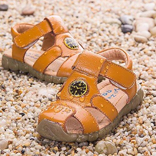 CHENGYANG Jungen Mädchen Netter Fischer Sandale - Strand Geschlossen Lauflernschuhe Schuhe Gelb