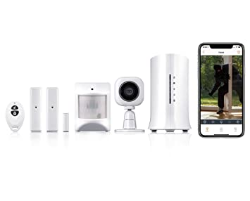 Home8 Video-Verified Security System - Wireless Home Security Alarm System with HD Camera, Alarm Sensors, Indoor Siren, and Free Basic Alarm Service, ...
