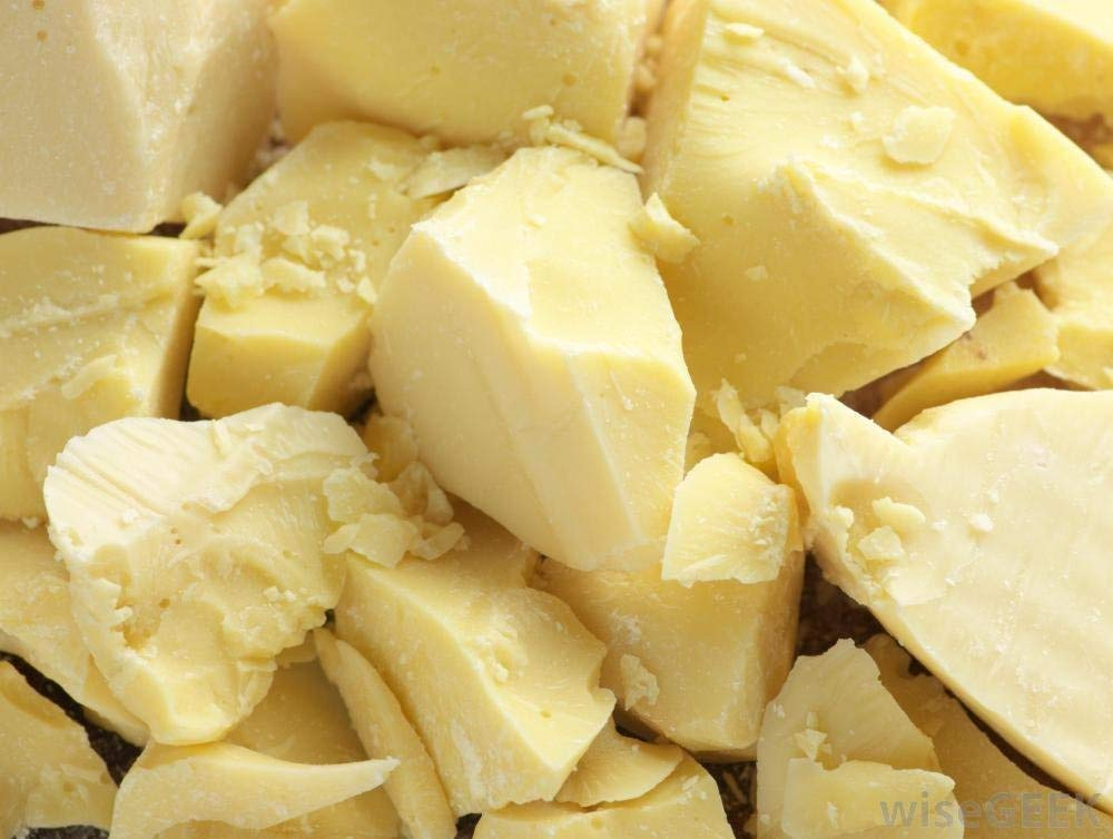 Raw Cocoa Butter Natural Moisturizer 100% Pure Unrefined 5 Pounds Non-Deodorizer Stretch Marks and Body Butter.