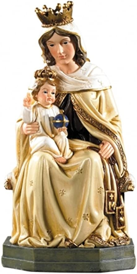 """8/"""" Our Lady of Mount Carmel Statue Figurine Blessed Virgin Mary Jesus Gift NEW"""