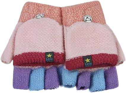 tricoté à la main 2-4 ans Enfants Mitaines NEUF gris acrylique /& laine