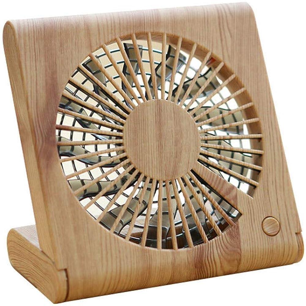 Unique Special Notebook Shape Mini Handheld Fan,Wood Grain Desktop Fan Portable Mini Silent USB Charging Electric Cooling Fan