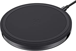Belkin Wireless Charger, Special Edition BoostUp 7.5W iPhone Optimized Charging Pad with Stainless Steel Chrome Finish, Black Pad