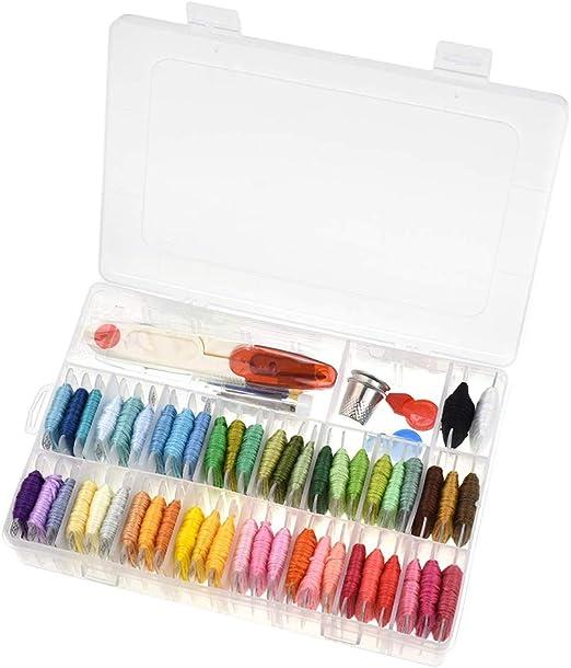 GZQ Kit de principiantes de bordado con caja organizadora de ...