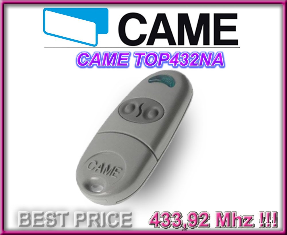 ORIGINAL emetteur 433.92Mhz Fixed code!! CAME TOP432NA 2-canaux t/él/écommande CAME Emetteur de haute qualit/é pour LE MEILLEUR PRIX!!!