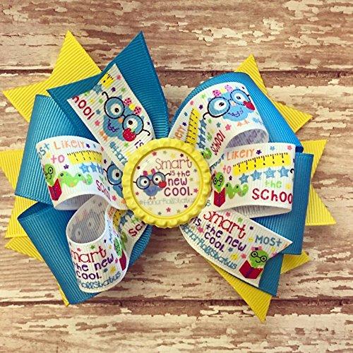 School bow - girls hairbow - Pre-K - kindergarten - ABC - girls hairbow - hair bow - Back to School - Colorful Bow - first day of school - kindergarten bow