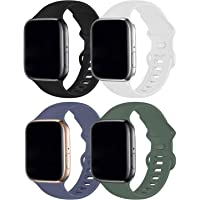 RUOQINI 4 Pack Compatible with Apple Watch Band 38mm 40mm,Sport Silicone Soft Replacement Band Compatible for Apple…