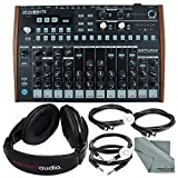 Arturia DrumBrute Analog Drum Machine and Accessory Bundle w/ Stereo Headphones + Cables + Fibertique Cloth