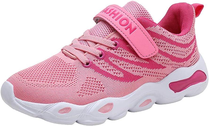 Veluckin Zapatillas de Correr para niños y niñas, Ligeras, de Malla, Transpirables, Informales, para la Escuela, Color Rosa, Talla 35 EU: Amazon.es: Zapatos y complementos