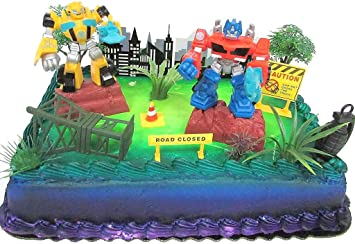 Terrific Transformers 10 Piece Birthday Cake Topper Set Featuring Bumblebee Personalised Birthday Cards Paralily Jamesorg