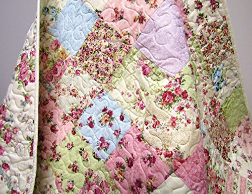 Shabby Chic Baby Girl Quilt by Now and Then Quilts