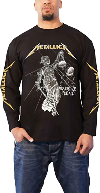 Metallica and Justice For All (Negro) Camisa De Manga Larga: Amazon.es: Ropa y accesorios