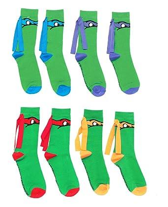 3a27f643416 Image Unavailable. Image not available for. Color  Teenage Mutant Ninja  Turtles Crew Socks ...