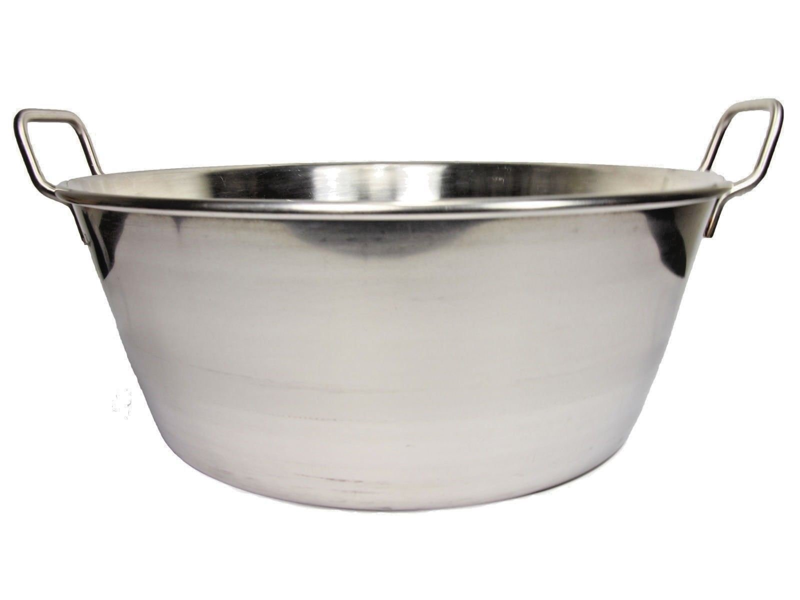 Cazo Para Carnitas 16'' Stainless Steel Heavy Duty Acero Inoxidable Wok comal Fry Mexican Style