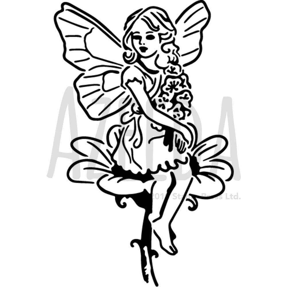 A5 'Fairy Angel' Wall Stencil / Template (WS00026432) Azeeda