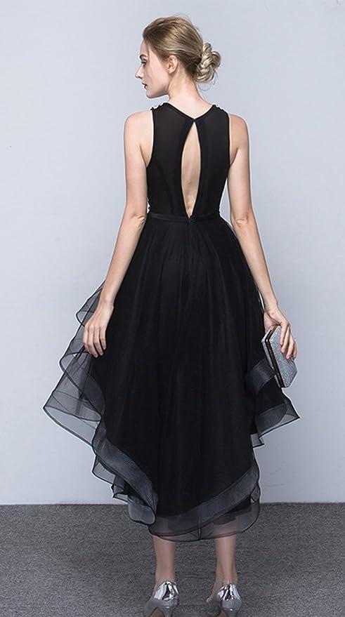 Amazon.com: Frontal Corto Largo Back estilo cuello redondo ...