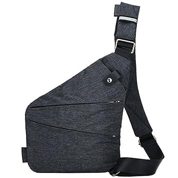 Herren Brusttasche Sling Schultertasche Umhängetasche Crossbody Schultasche DE