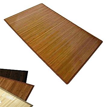 Bambusmatte Bambusteppich Teppich Bambus 180 X 270 Braun Amazon De