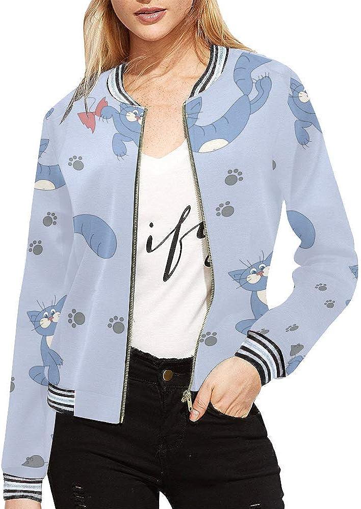InterestPrint Casual Jacket Outdoor Sportswear Lightweight Bomber Jackets Coats Girls Women