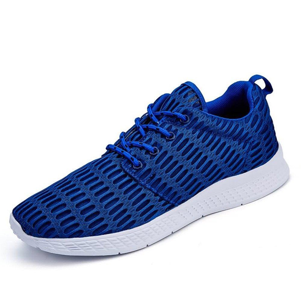 Zapatos atléticos de la Moda de los Hombres Zapatillas Deportivas de Color sólido de Punta Redonda 40 EU|Azul
